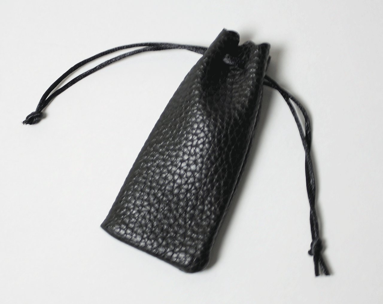 法人銀行印 黒水牛(寸胴) 18.0mm ソフトケース付き