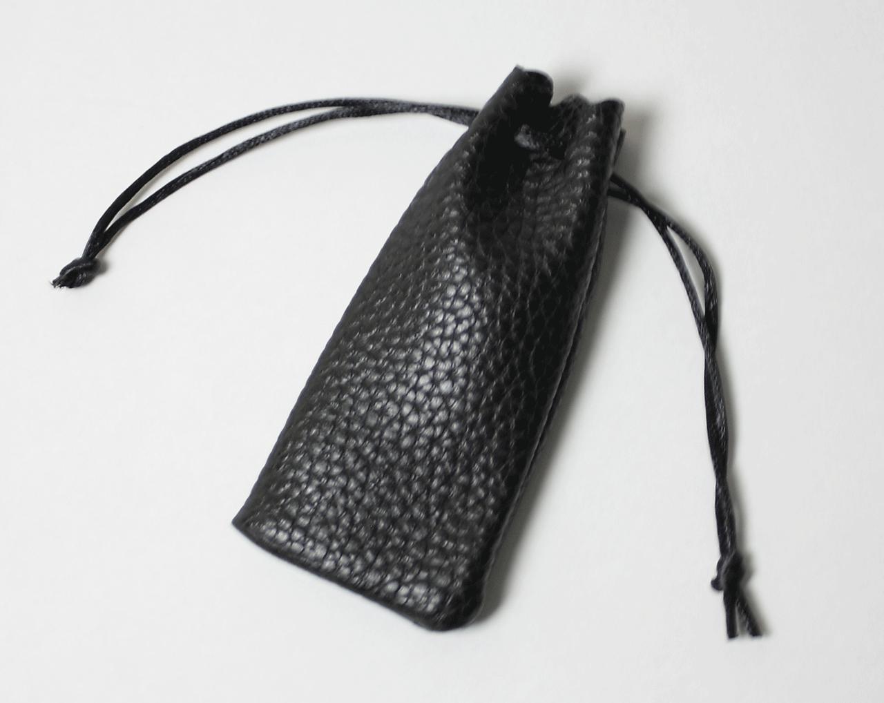 法人角印 黒水牛(天角) 24.0mm ソフトケース付き